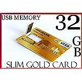 32GB ad alta capacità USB 2.0ultra slim oro stile carta di credito bastone di memoria flash drive 32G 32GB High Speed Key Digibank
