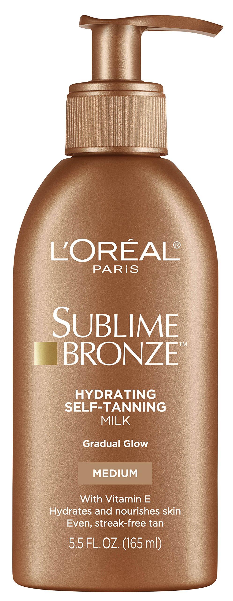 L'Oréal Paris Sublime Bronze Hydrating Self-Tanning Milk, Medium, 5.5 fl. oz.