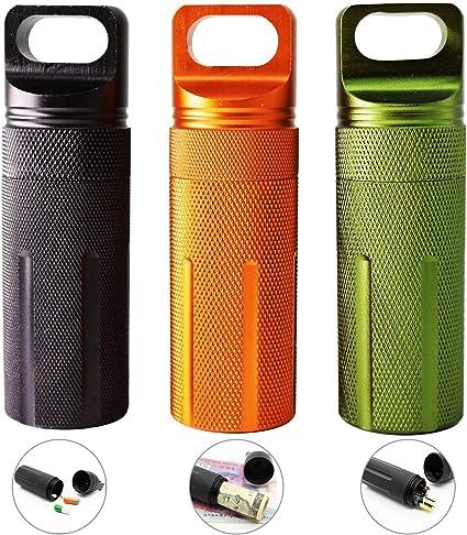 Kapseln Tragbar Pillen Aufbewahrungsbox Pille Behälter Metall Box für Pillen