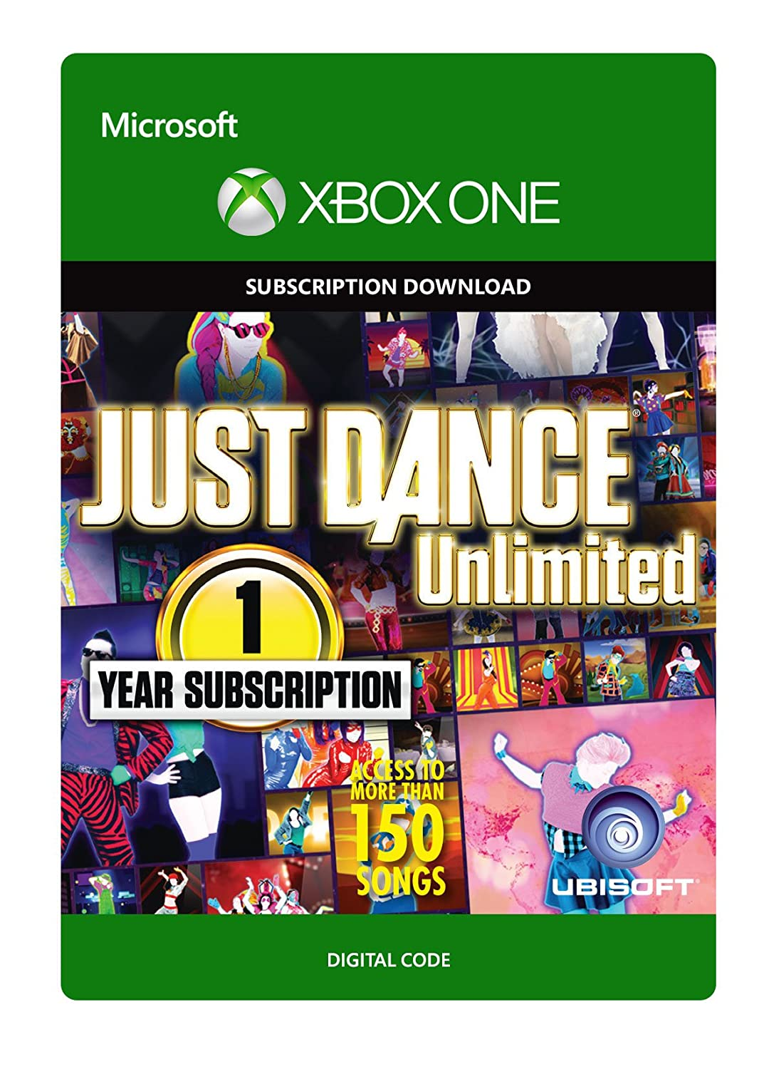 Amazon Com Just Dance Unlimited 1 Year Subscription Xbox One