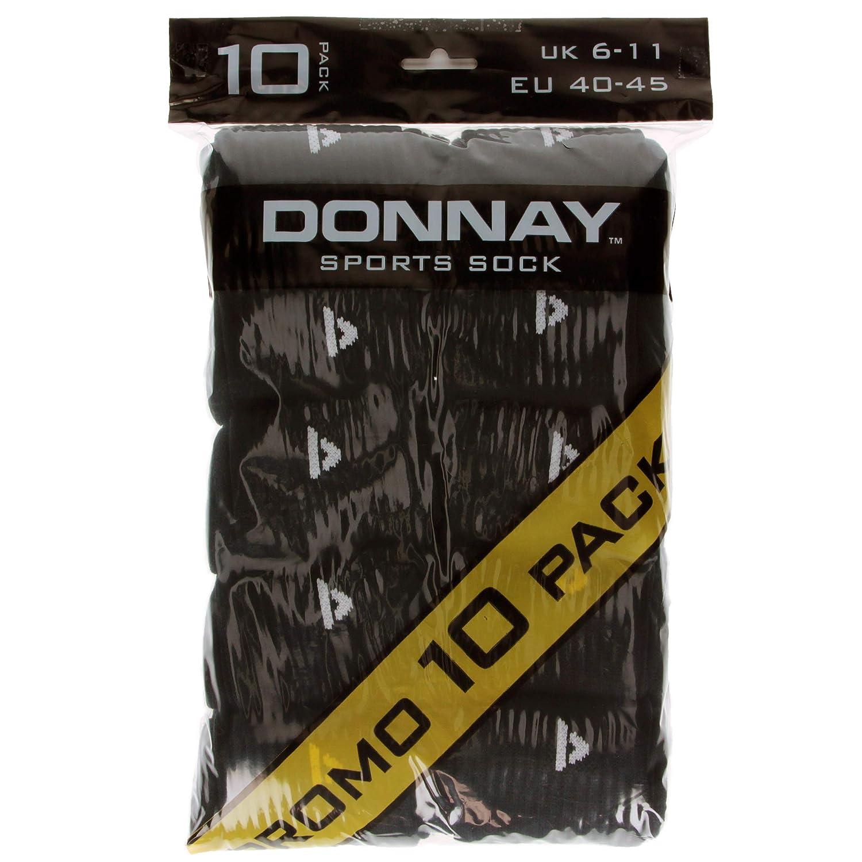Donnay 10 Paia Calze Uomo in morbida Spugna Sportive in Cotone in tre varianti colore One size (40/45)