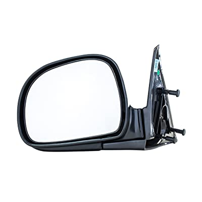 Driver Side Mirror for Chevy S10 Blazer GMC Sonoma Jimmy Isuzu Hombre Oldsmobile Bravada (1994 1995 1996 1997 1998) Smooth Black Non-Heated Folding Left Rear View Replacement Door Mirror GM1320126: Automotive