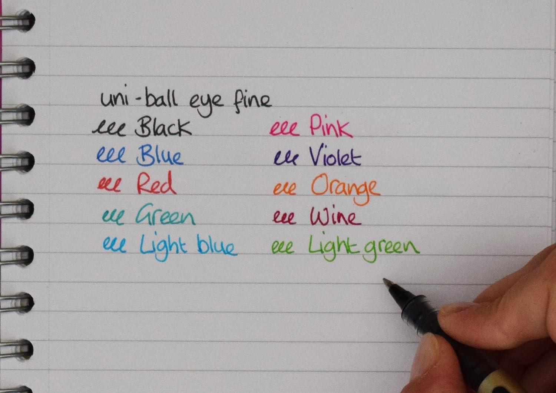 punta de 0,7/mm Bol/ígrafos UB-157 Eye Fine tinta Uni Super Ink negra Paquete de 3 unidades