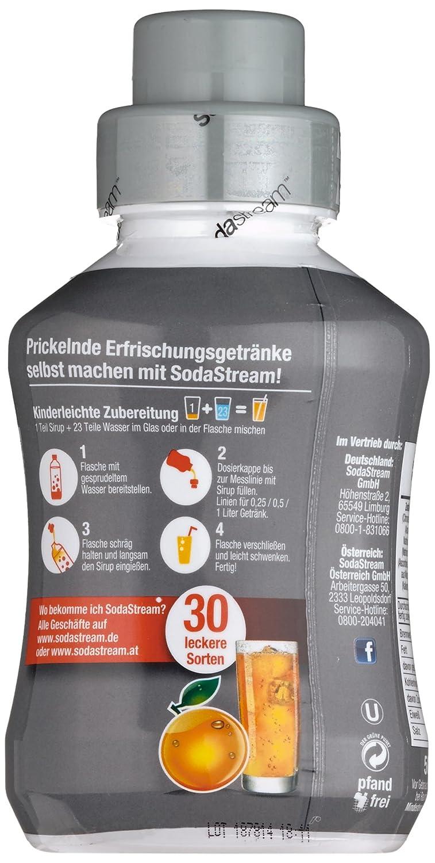 Sodastream Sirup Orange - ohne Zucker, 2er Pack (2 x 500 ml): Amazon ...