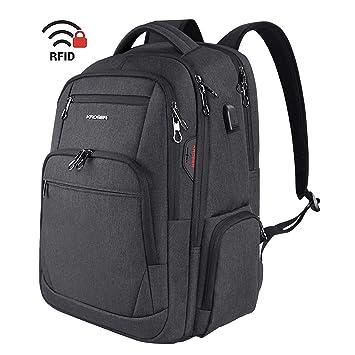 Amazon.com: KROSER Mochila para portátil de viaje de 15.6 a ...