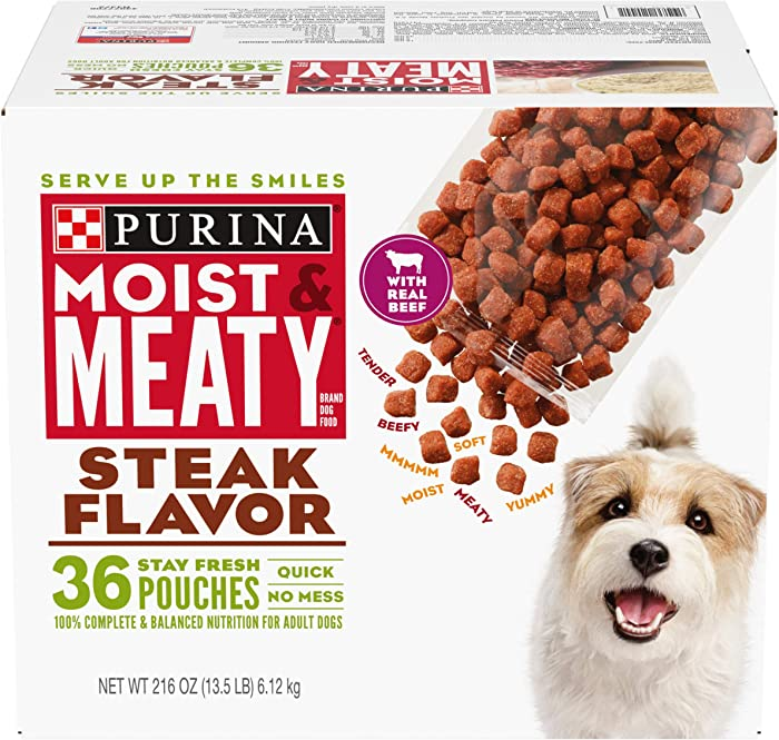 Purina Moist & Meaty Steak Flavor Adult Dry Dog Food