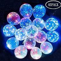Globos LED transparentes de flores impresas parpadeantes Globos