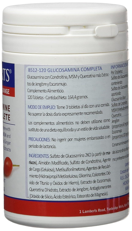 Lamberts Glucosamina Completa - 120 Tabletas: Amazon.es: Salud y cuidado personal