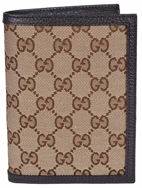 huge selection of c9b6b 5f419 Gucci Men's Canvas GG Guccissima Passport Holder Bifold Wallet ...