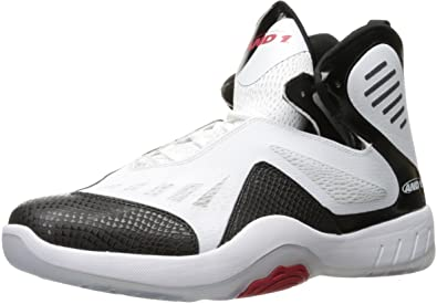 53f8bceacdedd Amazon.com | AND1 Men's Alpha Basketball Shoe White/Black/Red 9 M US ...