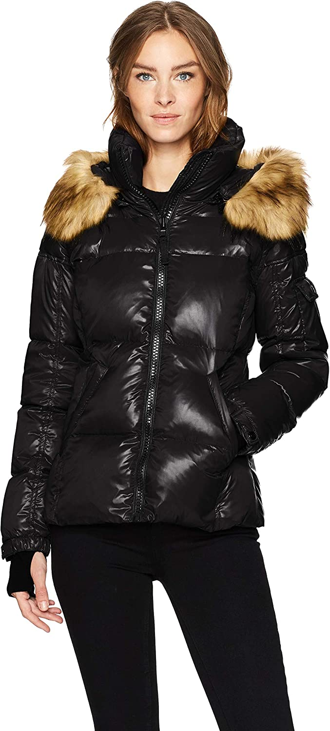 S13 Women's Kylie Down Puffer Jacket with Faux Fur Trimmed Hood at  Women's Coats Shop