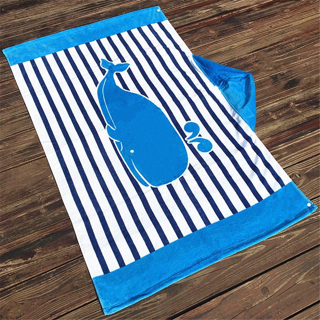 Gogokids Niños Niñas Toalla de Playa con Capucha - Bebé Bata de Baño 100% Algodón Toalla de Baño Dibujos Animados Manta de Baño Natación Toalla deportiva: ...