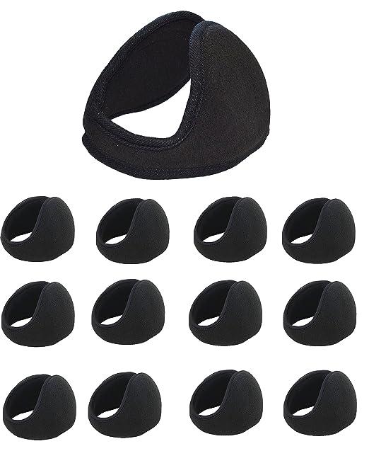31298767873 12 PCS Wholesale Ear Muffs Winter Ear warmers Fleece Ski Sports Earwarmer  Behind the Head Band. (Black) at Amazon Men s Clothing store