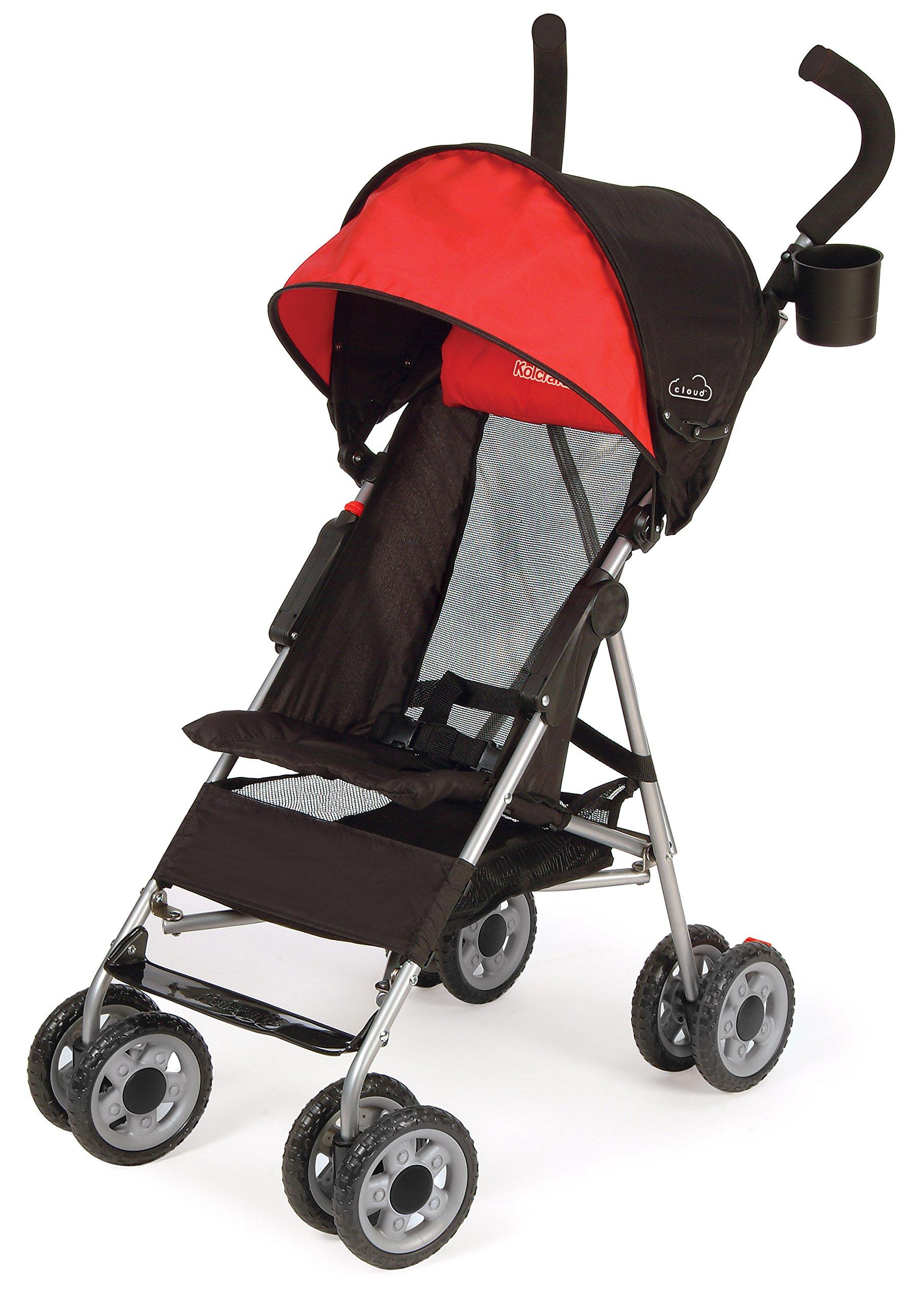 Kolcraft Cloud Lightweight Umbrella Stroller with Large Sun Canopy, Scarlet Red