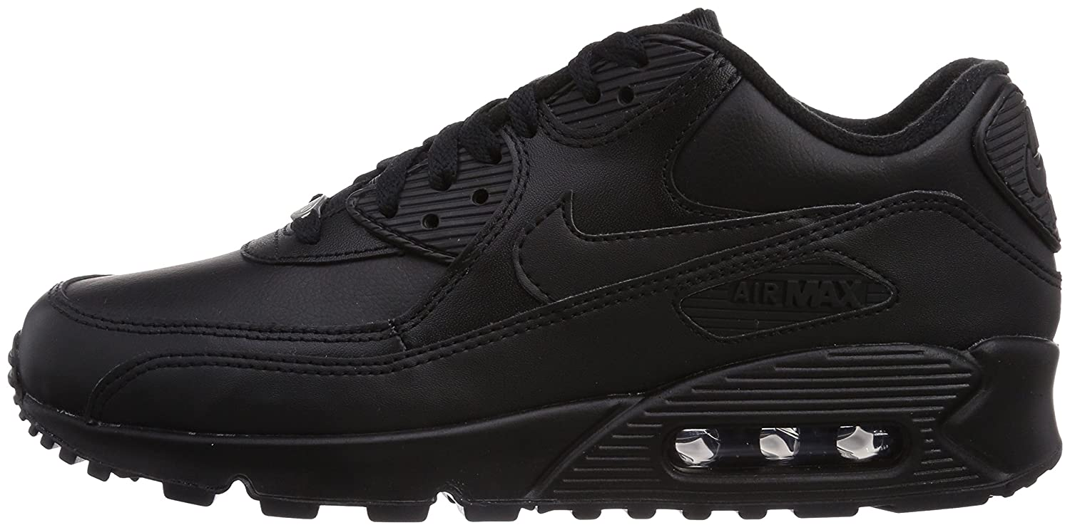 the best attitude 35d0e 0aaba Nike Air Max 90 Leather, Baskets mode homme, Noir (Black Black 001), 40.5  EU  Amazon.fr  Chaussures et Sacs