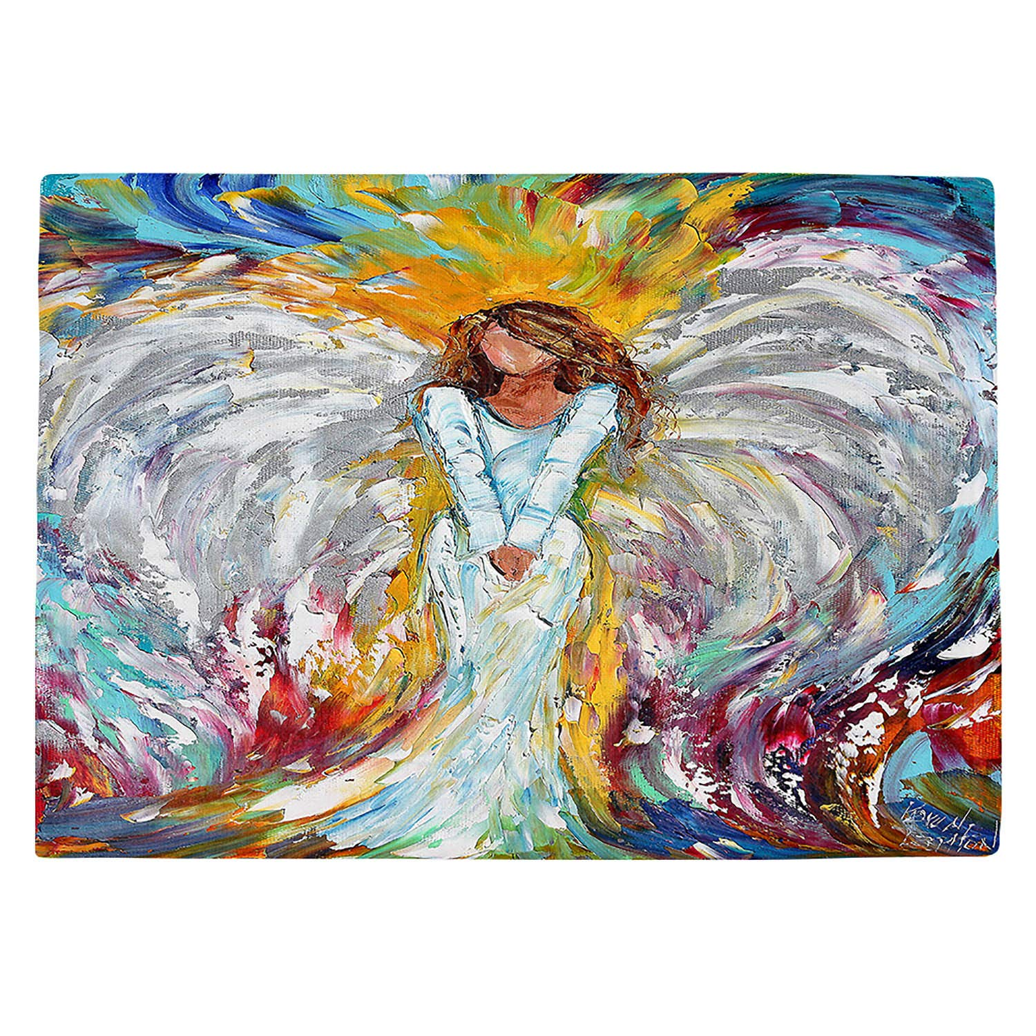DIANOCHEキッチンPlaceマットby Karen Tarlton – Angel Watching Over Me Set of 4 Placemats PM-KarenTarlAngelWatchingOverMe2 Set of 4 Placemats  B01EXSIWPE
