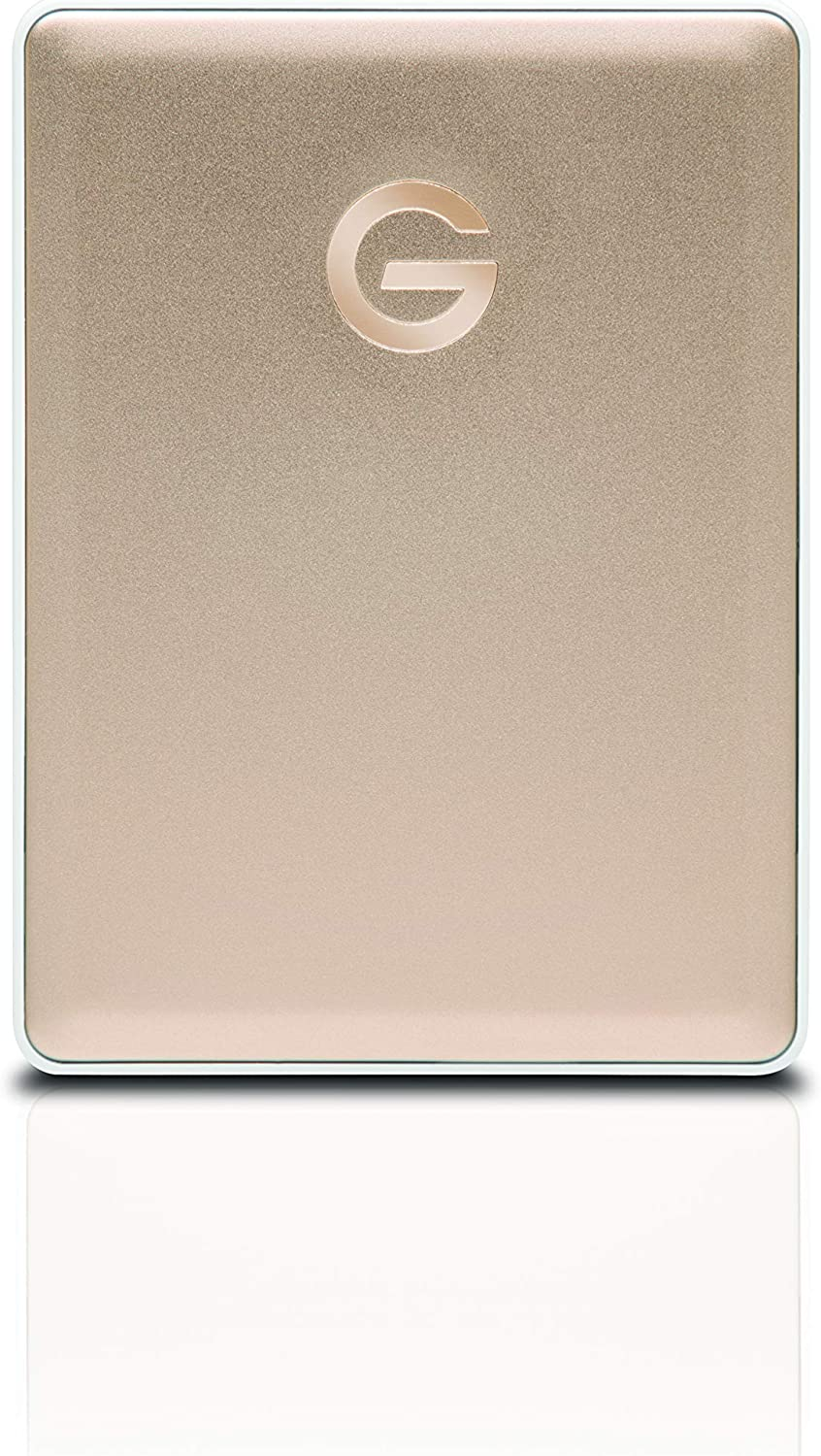 G-Technology 2TB G-DRIVE Mobile USB-C (USB 3.1 Gen 1) Portable External Hard Drive, Gold - 0G10340
