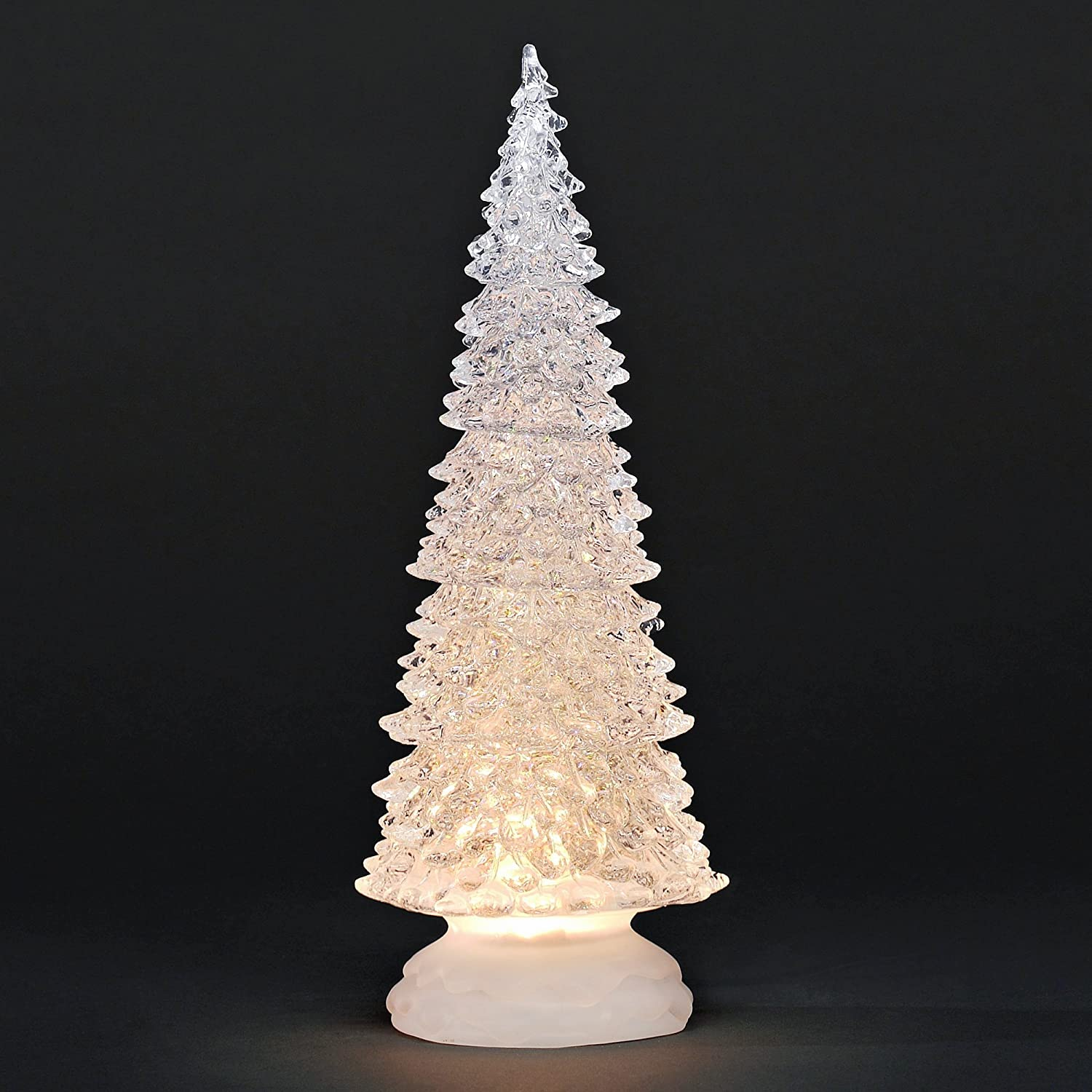 Sparkly Christmas Tree swirling glitter natural warmer white LED