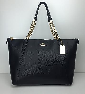 Amazon.com  Coach Ava Leather Chain Tote  Shoes 84f5abe56230