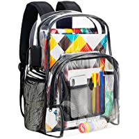 Vorspack Clear Backpack Heavy Duty PVC Transparent Backpack
