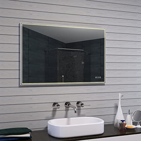 Specchio Bagno Led 100.Lux Aqua Specchio Bagno Led Vetro Alluminio Vetro Alluminio