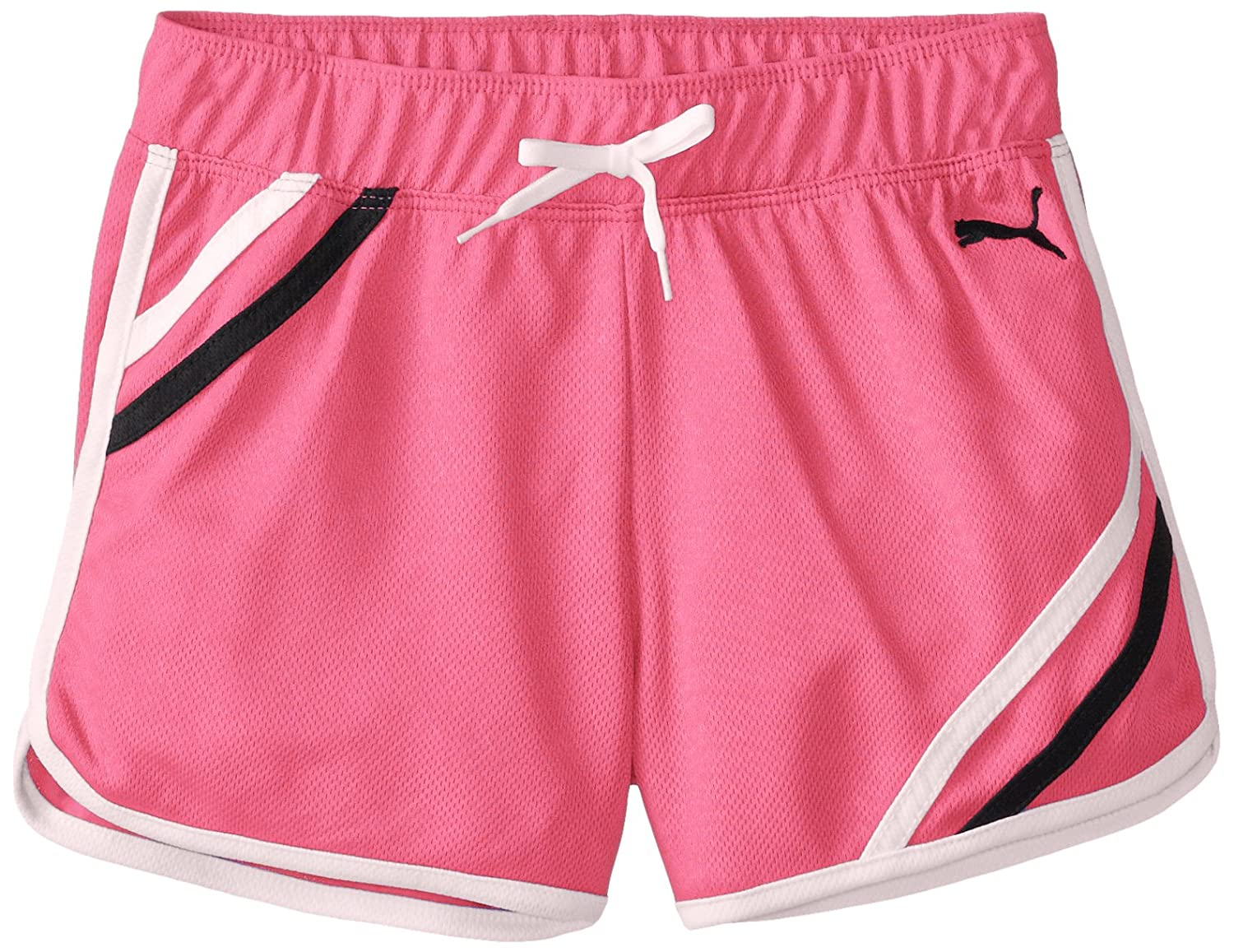 PUMA girls Big Girls Mesh Gym Short With Taping Puma Girls 7-16 PGH43347