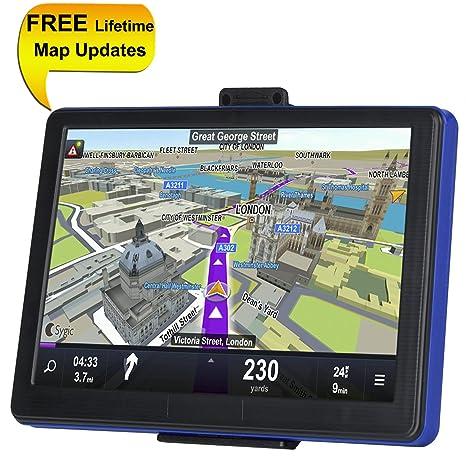 TSWA Sistema de navegación para Coches, 7 Pulgadas, 8 GB de Vida, actualizaciones