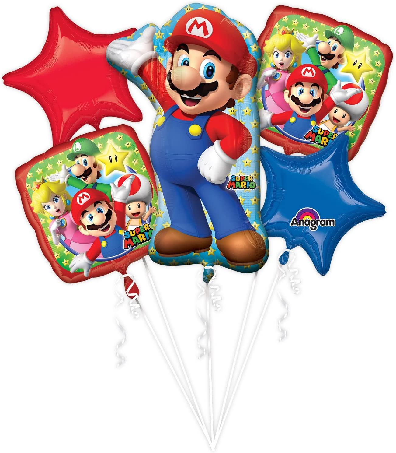 ANAGRAM INTERNATIONAL 3201101 BOUQUET MARIO BROS, Various, Multi