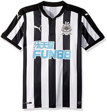 01da76871a12 Amazon.com  PUMA Men s Newcastle Home Replica Shirt with Sponsor ...