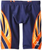 TYR Men's Phoenix Splice Jammer Swimsuit (Navy/Orange, 36)