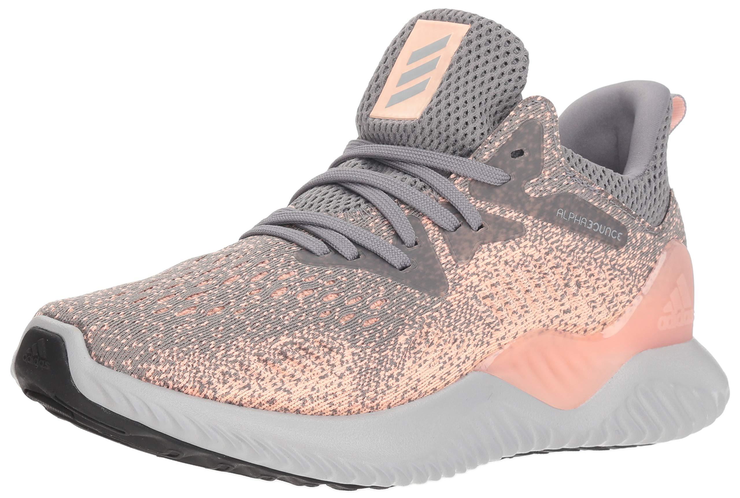 adidas Unisex Alphabounce Beyond Running Shoe Grey/Clear Orange, 5 M US Big Kid