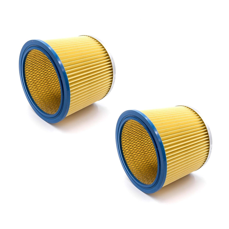 vhbw® 2x filtro rotondo/filtro a lamelle per aspirapolvere, aspirapolvere multiuso Einhell BT-VC 1250 S, BT-VC 1250 SA, BT-VC 1250-2