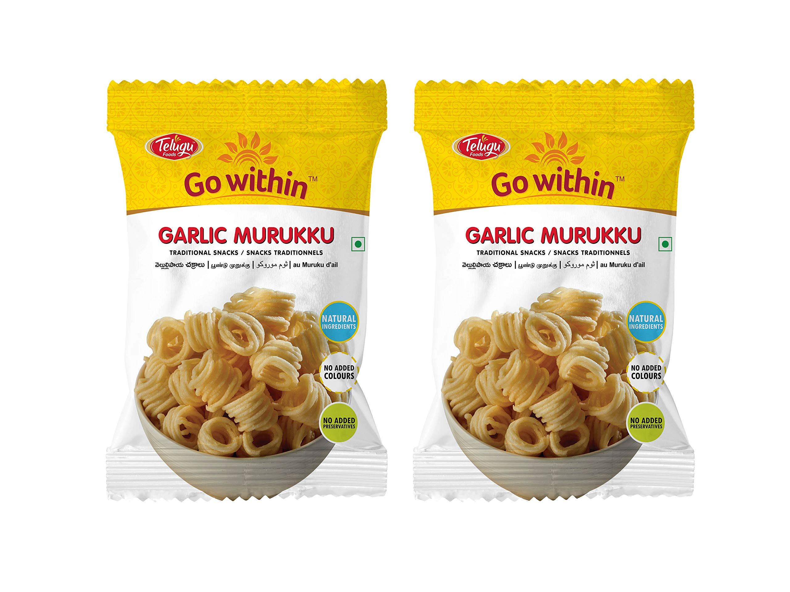 Telugu Foods Garlic Murukku 510gms (Pack of 3)