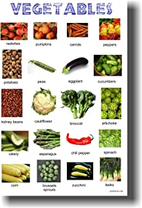 Vegetables - Classroom Healthy Eating Diet Food Science Poster