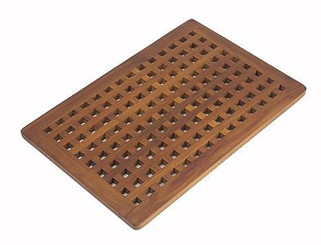 In legno massiccio di teak grate tappetino da doccia: amazon.it