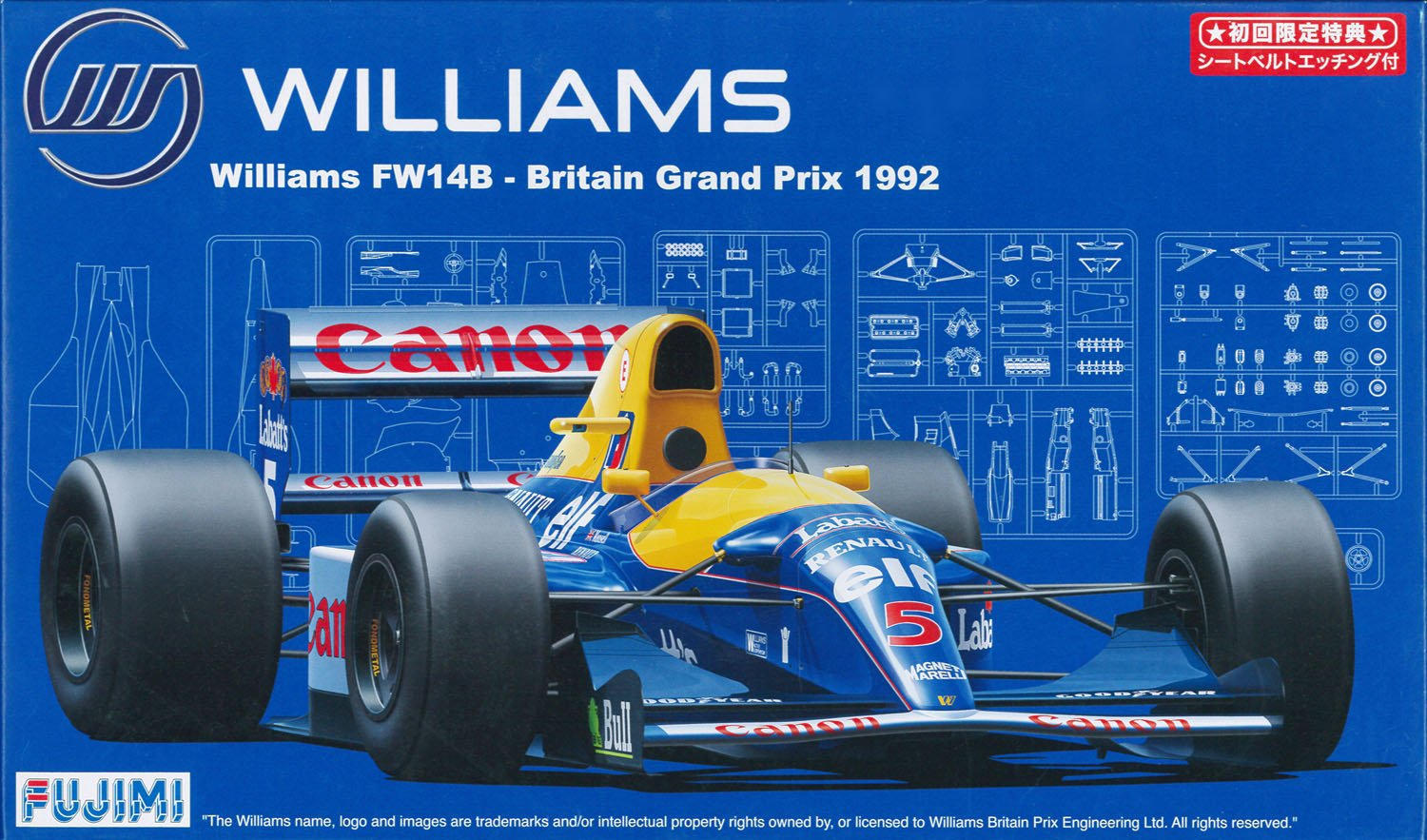 GP SP13 1/20 Williams Fw14b Britain Grand Prix 1992 Seat Belt w/photo-etched Parts