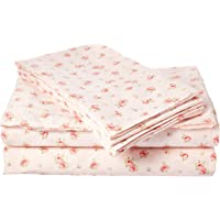 Amrapur Microfiber Sheet Set | Luxuriously Soft 100% Microfiber Rose Printed Bed Sheet Set with Deep Pocket Fitted Sheet…