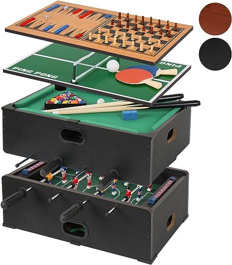Jago – Mesa multijuegos 5 en 1 (futbolín, billar, ajedrez ...
