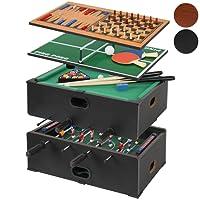 Jago Tavolo da gioco multi game 5 in 1 con calcio balilla biliardo scacchi backgammon e ping pong colore a scelta