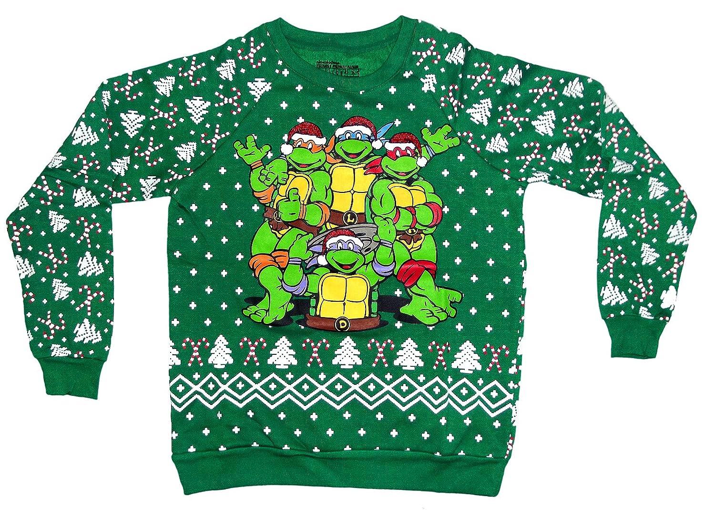 Amazon.com: Freeze Teenage Mutant Ninja Turtles Christmas Sweater ...