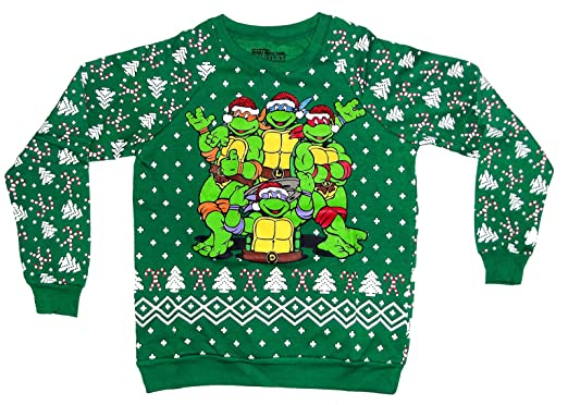 freeze teenage mutant ninja turtles christmas sweater medium