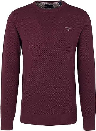 TALLA S. GANT Cotton Pique Crew suéter para Hombre