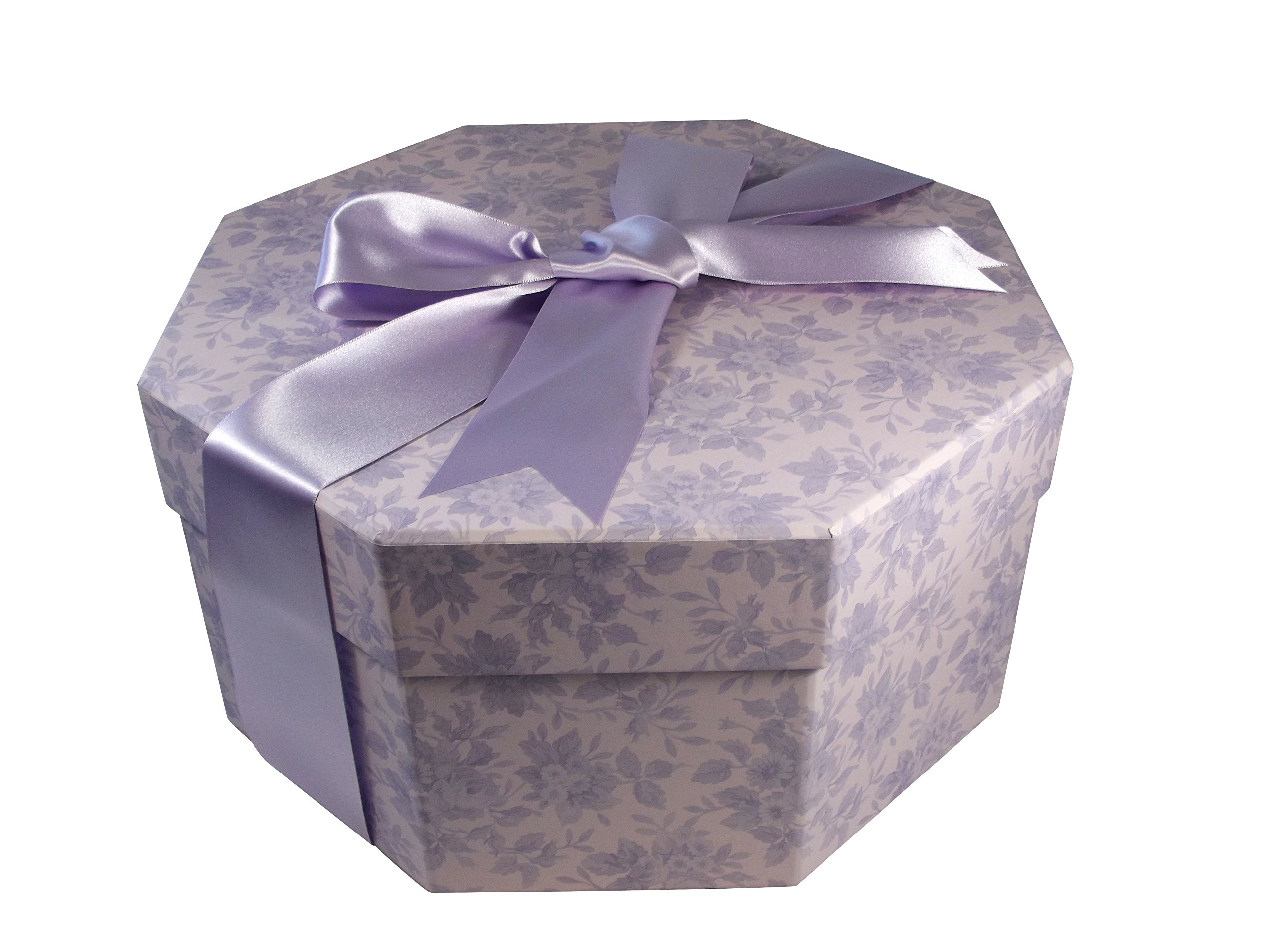 Colorful Hat Box -- Water Roses Lilac (Small) by Foster-Stephens, inc