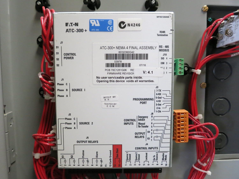 Eaton 260 Amp Automatic Transfer Switch ATC3C5C30260XSU 260A 480V ...