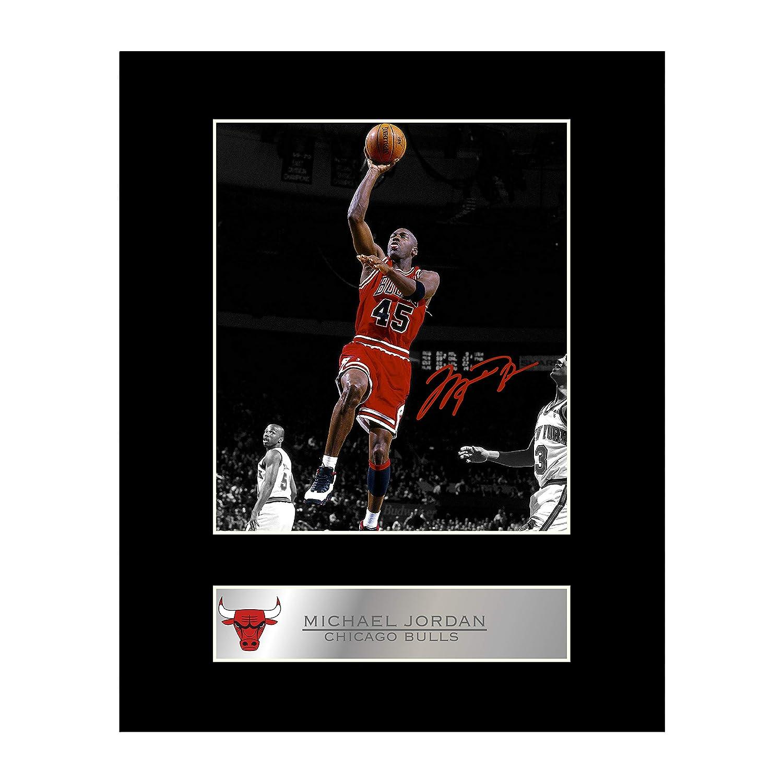 Michael Jordan Photo dédicacée encadrée Chicago Bulls # 1 Iconic pics
