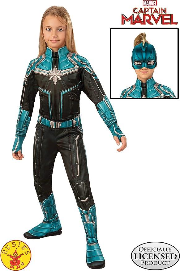 Amazon Com Girls Captain Marvel Kree Movie Costume Toys Games 6:05 captain marvel costume.captain marvel colors. girls captain marvel kree movie costume