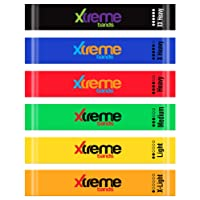 Resistance Loop Bands Set - 6 LEVELS - XTREME BANDS For Exercise, Fitness & Workout, Exceptional 6 BAND LOOP SET. Stretch Bands For Legs, Yoga, Pilates, Strength Training, & Physical Therapy, BONUS: Travel bag, Workout Manual, & PDF eBook.