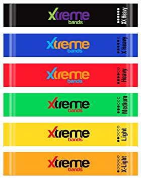 Resistance Loop Bands Set - 6 LEVELS - XTREME BANDS For Exercise, Fitness &  Workout, Exceptional 6 BAND LOOP SET  Stretch Bands For Legs, Yoga,