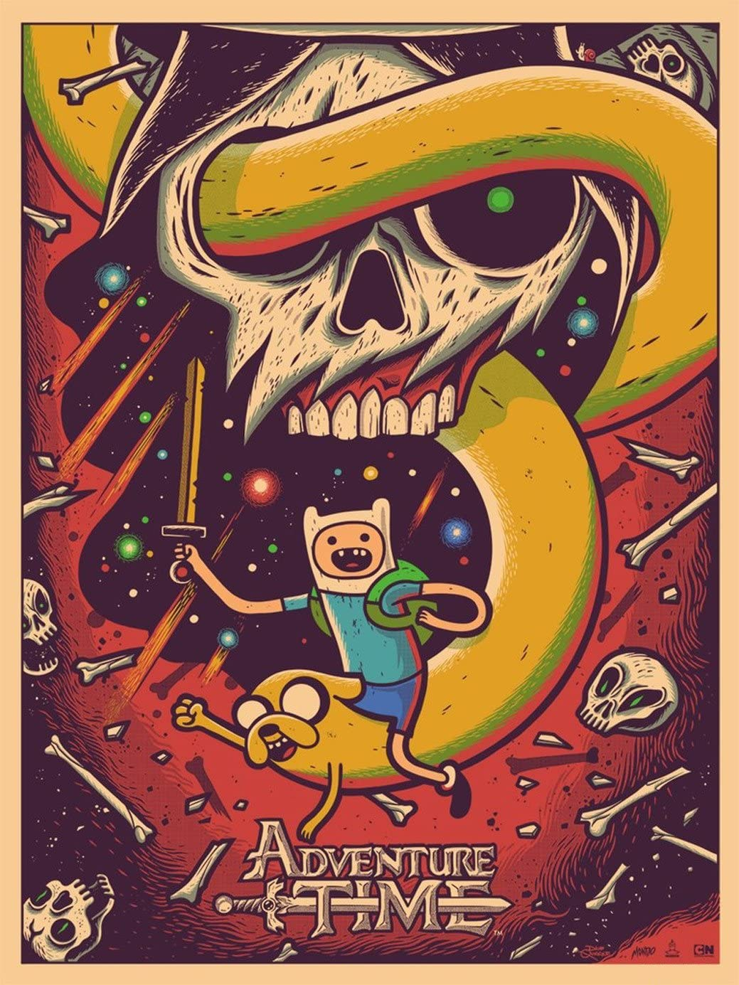 Set of 2 x high quality prints Jake /& Finn Adventure Time Poster Art