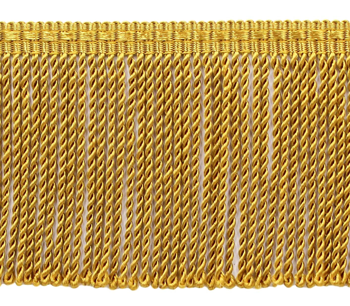DÉCOPRO 8 Yard Value Pack - 3 Inch Long Old Gold Thin Bullion Fringe Trim, Style# BFTC3 Color: D05 (24 Ft / 7.3 Meters) by DÉCOPRO